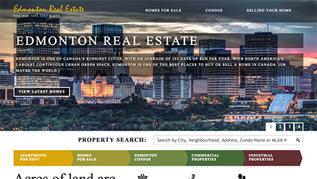 Edmonton realtor website